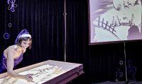 Sabrina zeigte Sandmalerei Show als Rahmenprogramm bei Weihnachtsfeier