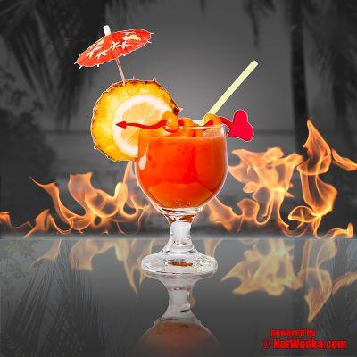 """""""Hot Sex On The Beach"""" - der feurig exotische Sommer-Cocktail mit HotWodka."""