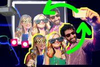 Silvester mit der Selfiewall - Partyfotos live vom Handy der Gäste auf den Beamer posten