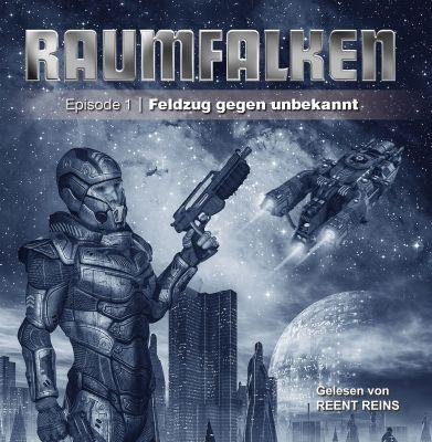 Cover des neuen Hörbuchs aus der Reihe Raumfalken, gelesen von Reent Reins
