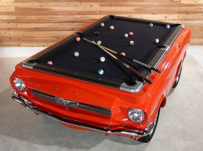Billardtisch US Car Oldtimer Ford Mustang 1965