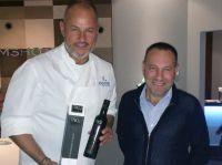Star-Koch Frank Rosin und Domenico Fazari, Chef der Ölmühle San Giorgio