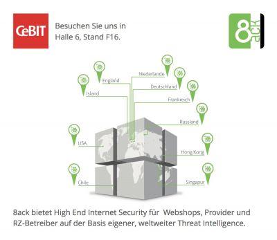 8ack ist mit High End Security auf der CeBIT vertreten.