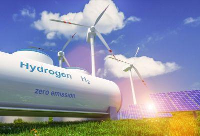 Grüner Wasserstoff aus Erneuerbaren Energien; Quelle: Depositphotos