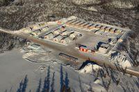 Fission Uranium - Bohrkernlager und Ausrüstung in Kanada auf Triple R Projekt