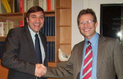Provost übernimmt Mehrheit an Saar Lagertechnik (v.l.n.r.): François Bontemps, CEO von PROVOST, Christoph Göb, Geschäftsführer von