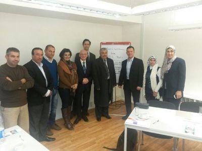 Delegation aus Nahost mit dem Vorstand des BDS Berlin
