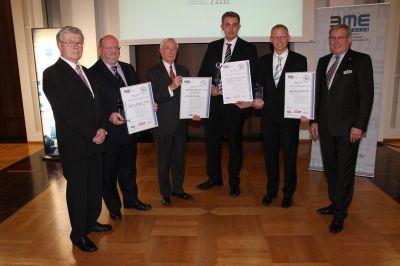 V.l.: Armin Heimann (BME rmr), Hans-Jürgen Eicke, Ulrich Fricke, Stephan Reich, Manuel Schmidt, Lothar Kunkel (Vorstand BME rmr).