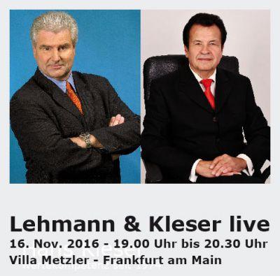 Börsenexperte Frank Lehmann (ARD) und Hans Kleser (Vorstand Deutsche Gold AG)