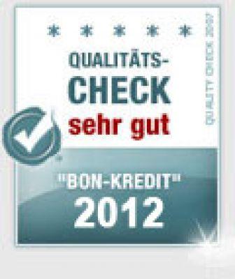 Bon-Kredit bester Schweizer Kredit  des Jahres 2012 - KMU-INNOVATION Kredit-Rating