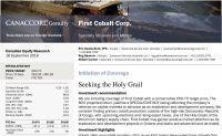 Canaccord Genuitys Analysten sehen nach Erstbewertung 125 % Kurspotenzial bei First Cobalt