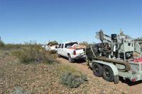 Bohrgerät auf dem Weg zum Einsatz; Foto: Canadian Mining