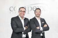 Markus Brochenberger (r.) ist Vorstandsvorsitzender, Achim Steinhorst Vorstand der Finanzdienstleistungsgruppe compexx Finanz AG.