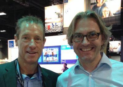 David Meerman Scott (li.) und Bernd Hoeck (re.) im Gespräch über Newsjacking.