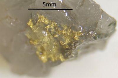 Sichtbares Gold von Hemi; Foto: De Grey Mining