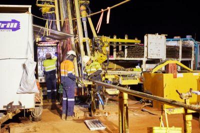 Bohrgerät auf der Goldentdeckung Hemi; Foto: De Grey Mining