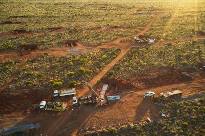 Bohrgeräte auf Hemi; Foto: De Grey Mining