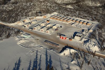Fission Uranium, Bohrkernlager und Ausrüstung, Saskatchewan - Triple R Uranvorkommen