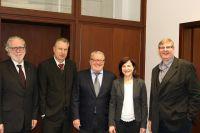 v.l.n.r.: Wilfried Grunau (ZBI), Heinz Leymann (IfKom), Dr. Thomas Sattelberger (MdB),Doreen Blume (IfKom), Prof. Dr. Ralph Dreher
