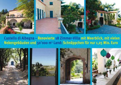 Herschaftliches Anwesen mit 18 Zimmer-Villa an der Riviera