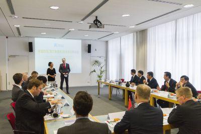 Empfang einer chinesischen Delegation aus Rudong im Berliner Haus der Wirtschaft