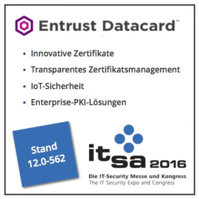 Entrust Datacard auf der it-sa 2016