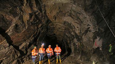 Untertage in der Wolfsberg-Mine; Quelle: European Lithium