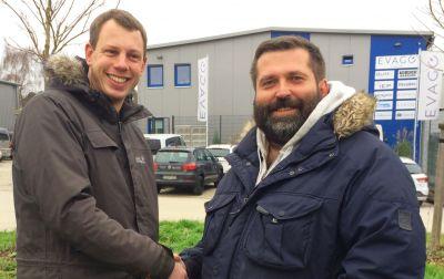 Freuen sich auf eine erfolgreiche Zusammenarbeit: EVENTENERGIE DEUTSCHLAND GmbH Geschäftsführer Christian Ecker und Goran Marincic