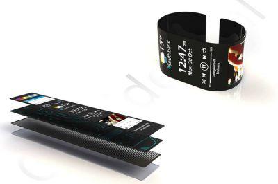 Konzept einer flexiblen Smart Watch; Foto: First Graphene
