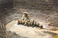 Abbausprengung bei Timmins Gold, San Francisco Mine