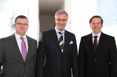 Firmenfoto BLG Healthcare Executive Search: Christian Maucher, Pim van de Riet, Thomas Lieb – vlnr.