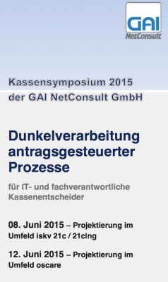 Die GAI NetConsult veranstaltet ein Kassensymposium.