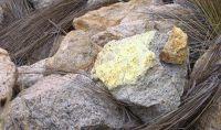 Uranvererzung; Foto: Macusani Yellowcake