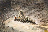 Sprengung für Abbau bei Timmins Gold, San Francisco Mine, Mexiko