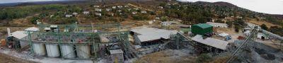 Panoramaansicht Blanket Mine & Verarbeitung Caledonia Mining, Simbabwe