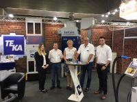 Die Kunden wurden vom TEKA-Messeteam und dem spanischen Vertriebsleiter Pablo Gallardo (2.v.l.) intensiv betreut.