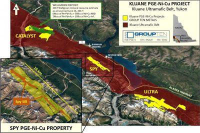 Karte des Spy-Projekts; Quelle: Group Ten Metals