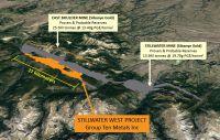 Projekt Stillwater West von Group Ten: Mine Stillwater und Landpaket von Sibanye in Grau