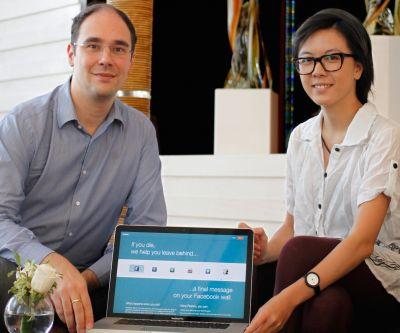 Die Gründer von Perpetu: Andea Livotto (links) und Ryanne Lai. Foto: HKTDC.
