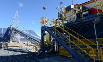 Verarbeitungsanlage auf der Sugar Zone-Mine; Foto: Harte Gold
