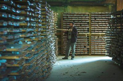 Geologe vor Bohrkernen vom Goliath-Projekt; Foto: Treasury Metals