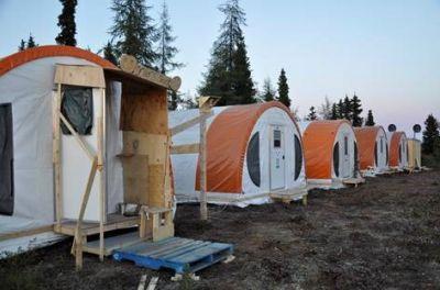Im Explorations-Camp der Equitas Resources auf der Garland-Liegenschaft; Foto: Equitas Resources