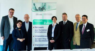 v.l.n.r.: Dr. N. Neumann, Prof. Dr. G. Dreo Rodosek, Prof. Dr. N.Gebbeken, Daniela Wühr, Heinz Leymann, N. Eckenweber, K. Kochc