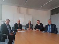 v.l.n.r.:Anton Schrall (IfKom),Thomas Schauer (I.C.S.),Dr. Robert Couronné (NIK),Heinz Leymann (IfKom),Norbert Eckenweber (IfKom)