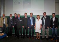 v.l.n.r.:N.Eckenweber,P.Stöberl,Prof. Dr.M.Niemetz,D.Salge,H.Leymann,Prof. Dr. W.Baier,M.Wild (MdL),Prof. Dr. R.Dreher,N.Balbierer