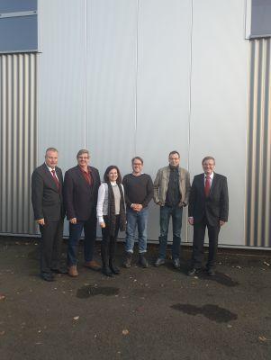 v.l.n.r.: H. Leymann (IfKom), Prof. Dr. R. Dreher (FinAF), D. Blume (IfKom), Dr. J. Pieper,Prof. Dr. M. Krüger, R.Genderka (IfKom)