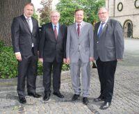 v.l.n.r.: Heinz Leymann (IfKom), Reinhold Sendker (MdB), Reinhard Genderka (IfKom), Ulrich Bösl (CGPT)