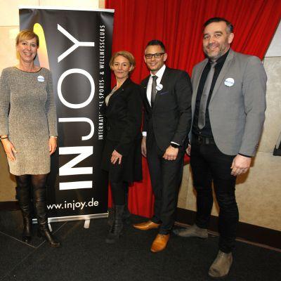 Valérie Huck, Cristina Brandtstetter (Injoy/Inline) und Frank Adler, Markus Kanters (abcfinance), v.l.n.r.