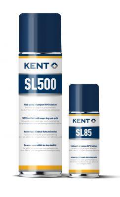 Das Haftschmiermittel von KENT ist als Sprühdose mit 500 ml (SL 500) oder mit 85 ml (SL 85) erhältlich.