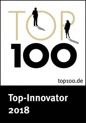 """Auszeichnung """"Top 100 Iinnovationsfürhrer 2018"""" für JURA DIREKT"""